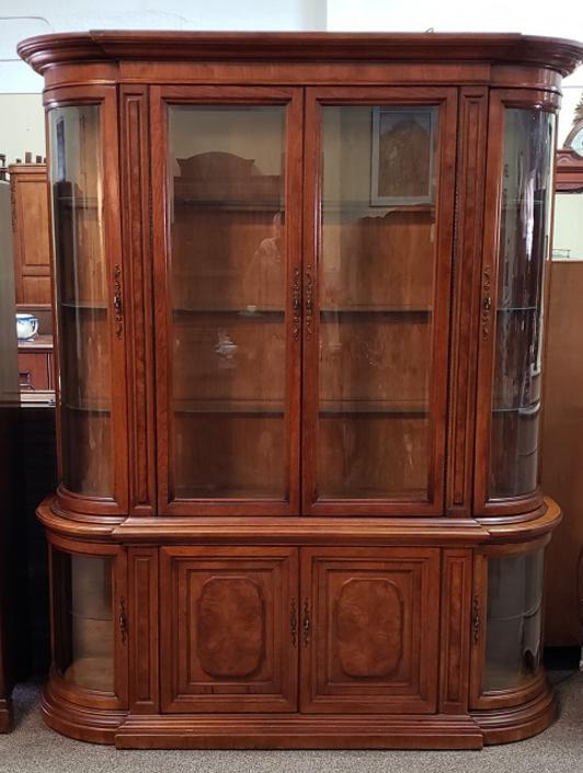 Item #PG1 Vintage Hibriten Display / China Cabinet