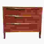 Mid Century MODERN Sculpted Drawer WALNUT DRESSER by Sligh Furniture by CIRCA60