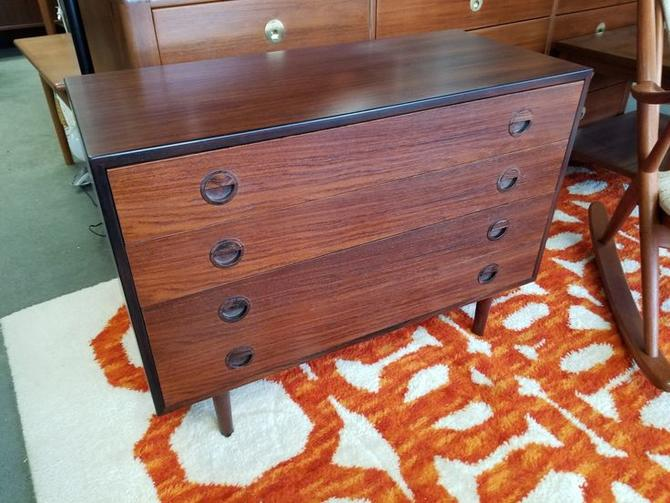 Danish Modern rosewood four drawer chest
