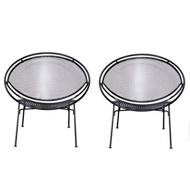 Pair of Salterini Radar Mid Century Patio Lounge Chairs by TheModernHistoric