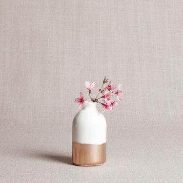 Gold Dipped Bud Vase