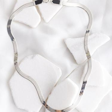 Sterling Silver and Onyx Eclipse Necklace