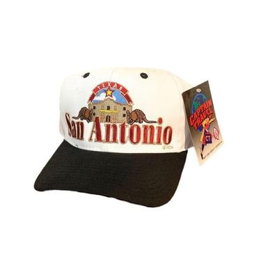 Vintage 90s San Antonio Texas Snapback Hat with Tags Captain Travel by OverTheYearsFinds