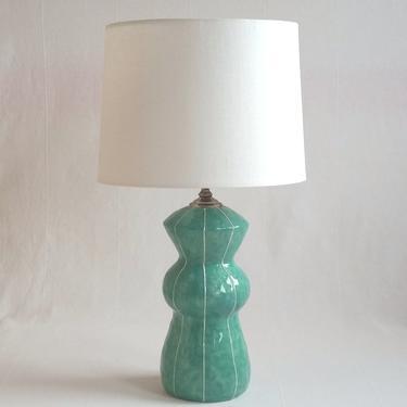 Table lamp, ceramic. For bedside or living room by krikriceramics