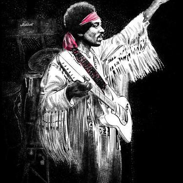 Jimi Hendrix - Unisex/Men's Crew Tee