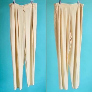 Yellow High Waist Pants XL by BeggarsBanquet