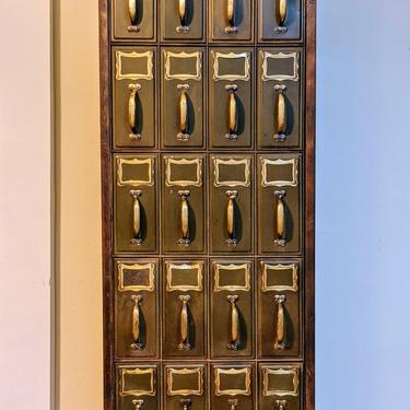 Vintage Industrial Vertical Multi Drawers Metal  File cabinet by SouliDesign