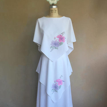 Unique Vintage 70s Tiered Style Handkerchief Dress by LucileVintage