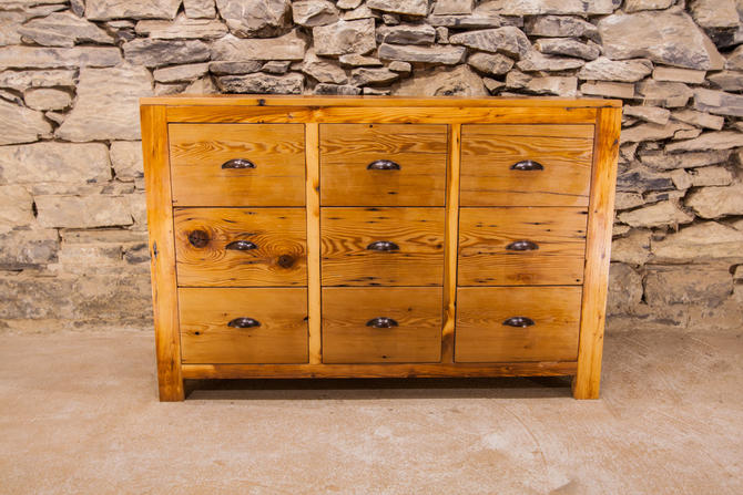 Old Bombay Reclaimed Pine 9 Drawer Dresser by BarnWoodFurniture