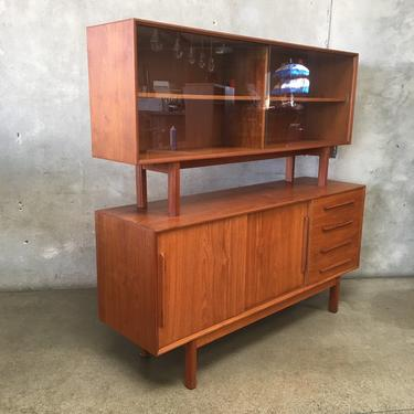 Mid Century Teak Sideboard with Hutch