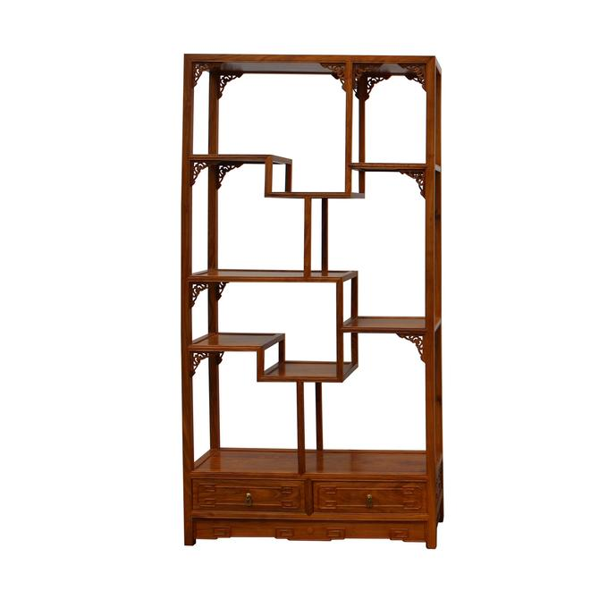 Chinese Rosewood Display Curio Cabinets Room Divider cs4947-2S