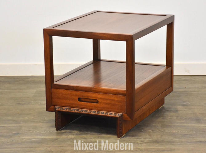 "Frank Lloyd Wright Mahogany ""Taliesin"" End Table by mixedmodern1"
