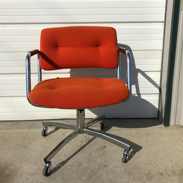 Steelcase Task Chair Armchair Desk Mid Century Modern Pollock Knoll Style Office Midcentury Eames Writing Swivel Lounge Vintage Seating by DejaVuDecors
