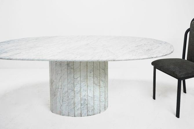 Oval Marble Dining Table by BetsuStudio