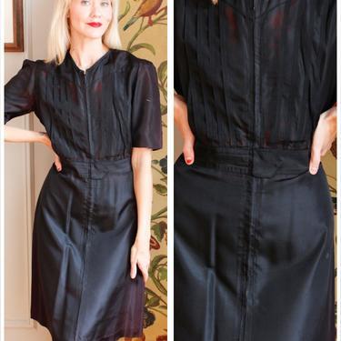1940s Dress // Bob Evans Waitress Dress // vintage 40s dress by dethrosevintage