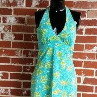 Vintage Turtle Print Lilly Pulitzer Halter Mini Dress Cotton S by FlashbackATX