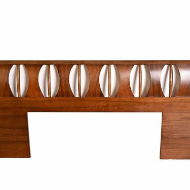 Rosewood and Walnut King Size Headboard Mid Century Modern by HearthsideHome