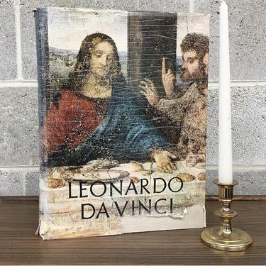 Vintage Leonardo Da Vinci Book Retro 1950s Reynal & Company + 1st Edition + Hardcover + Polymath + Painter + Sculptor + Architect +Engineer by RetrospectVintage215