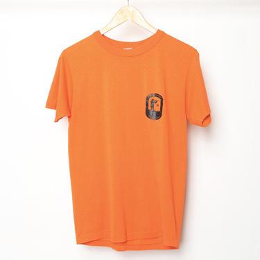 vintage 1970s NRA orange & black CHAMPION brand vintage soft rare 70s National Rifle Association t-shirt by CairoVintage