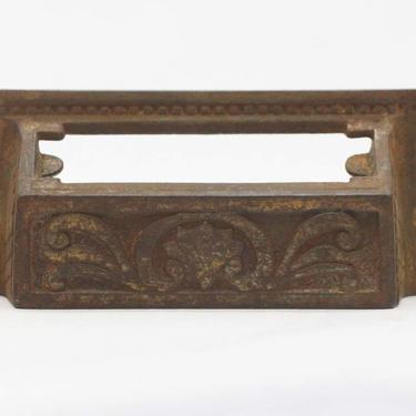 Antique Cast Iron 4 in. Victorian Bin Pull with Slot