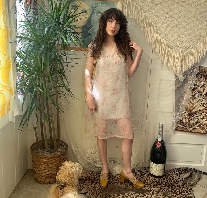 VTG SHEER TUNIC - floral - free size by GlamItToHell