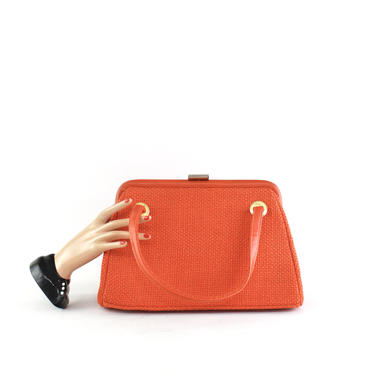 1960s Pumpkin Orange Purse - Vintage Orange Handbag - 1960s Orange Handbag - Vintage Orange Purse - Autumn Handbag - Vintage Orange Bag by VeraciousVintageCo