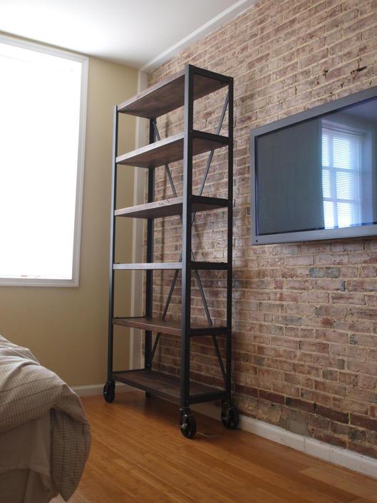 Engineers Industrial Bookcase Shelf Shelving Vintage bookshelve by CamposIronWorks