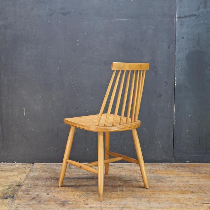 1970s Spindle Back Chair Baltic Birch Mid-Century Modern Scandinavian Attributed to Ilmari Tapiovaara by BrainWashington