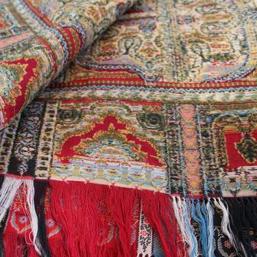 1880's antique Kashmir Shawl by MamaTequilasVintage