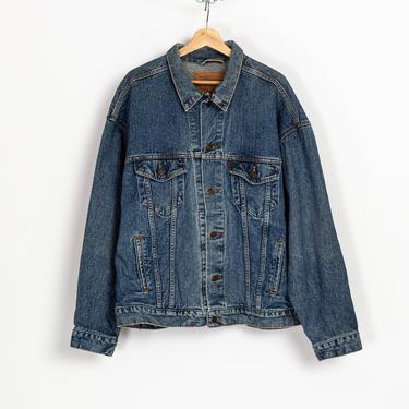 Vintage 80s Levi's Denim Jacket - Extra Large | Unisex Made In USA Medium Wash Jean Trucker Jacket by FlyingAppleVintage