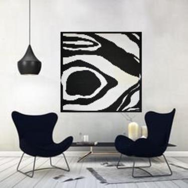 "Sale-36""x36"" Canvas Painting Minimal Wall Art, Modern Home Decor, Abstract Minimalist Modern Original Contemporary Artwork Commission Art by ArtbyDinaD"