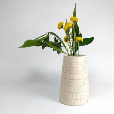 Rainbow Pattern Ware Vase