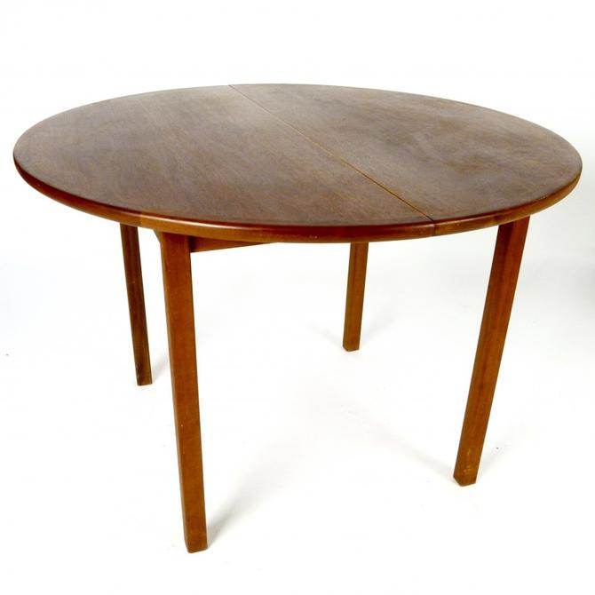 Round Teak Dining Table With Leaf