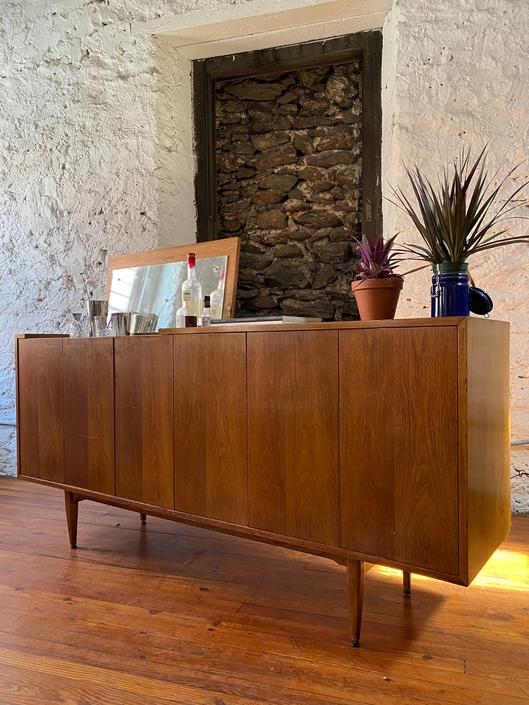 Mid century credenza Danish modern console cabinet mid century modern bar cabinet by VintaDelphia