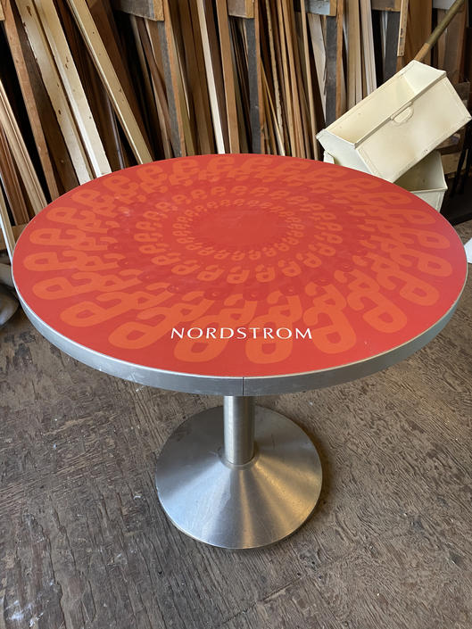 "Small ""Nordstrom"" Cafe Table 30""dia. X 29""t"