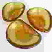 1950s Murano Gold Leaf Infused Kidney Shaped Salt Cellars or Petite Ashtrays