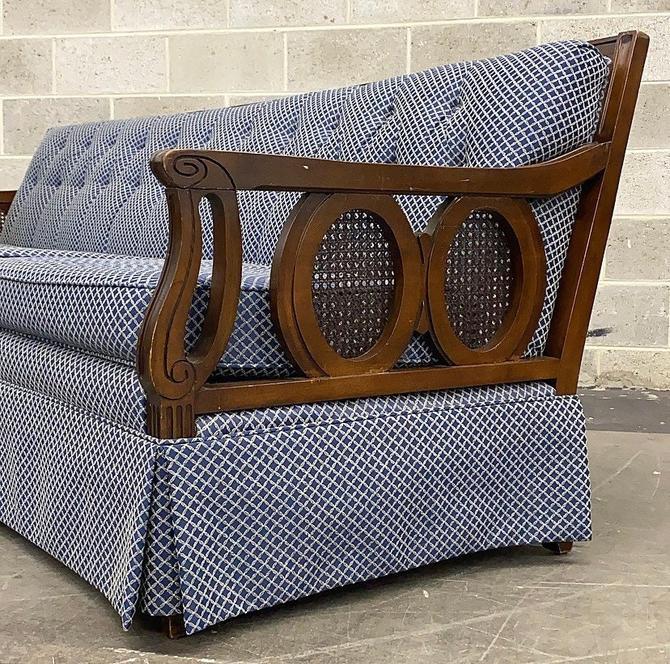 NJ PICKUP ONLY ———— Vintage Cane Sofa by RetrospectVintage215