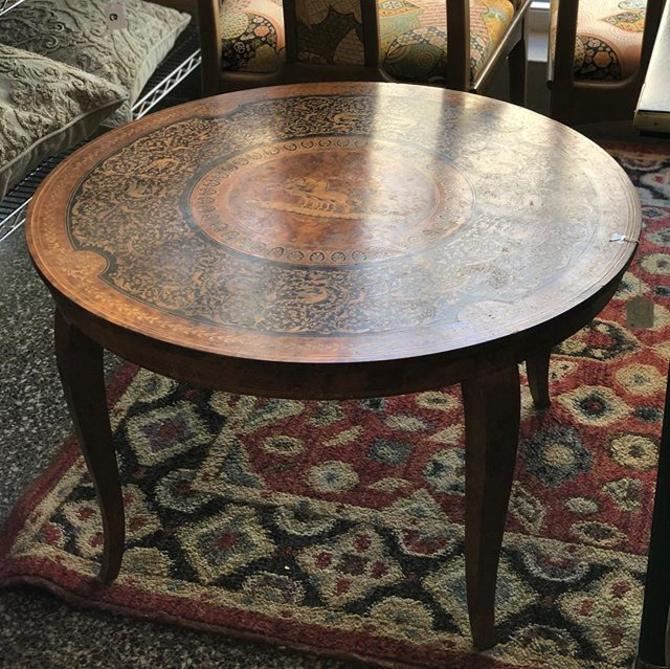 Gorgeous inlaid coffee table! Only $110!