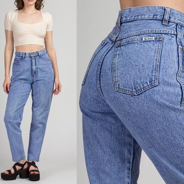 "Vintage Bill Blass High Waist Mom Jeans - Medium, 28"" | 80s 90s Acid Wash High Rise Denim Tapered Leg Jeans by FlyingAppleVintage"