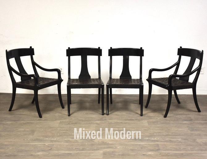 Klismos Robsjohn Gibbings Style Dining Chairs - Set of 4 by mixedmodern1