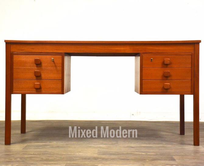 Domino Møbler Danish Teak Desk by mixedmodern1