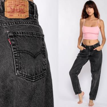 Black Levi Jeans Levis Mom Jeans High Waist Jeans 80s Jeans Denim Pants Levis 560 Faded Vintage Hipster Tapered 90s Medium 30 10 by ShopExile