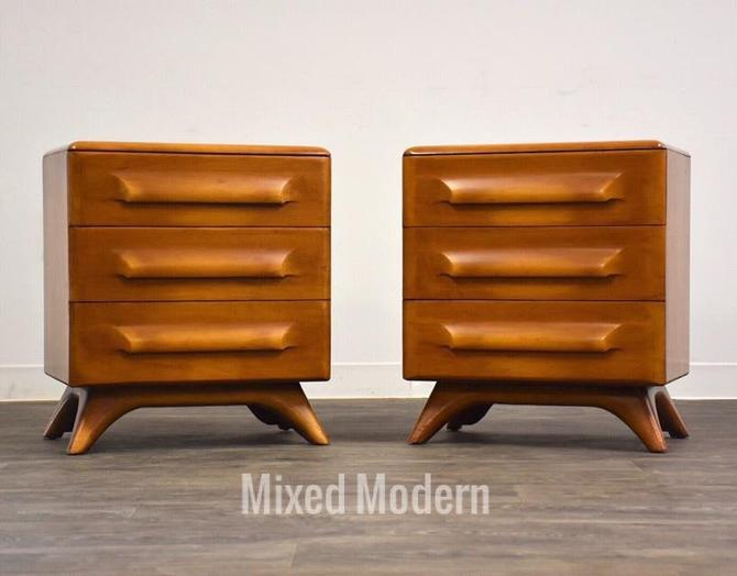 Franklin Shockey Solid Maple Nightstands- a Pair by mixedmodern1