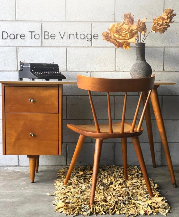 Mid-Century Paul McCobb Desk for Planner Group - Mid Century Modern Desk - Mid Century 2-Drawer Maple Desk by DareToBeVintage