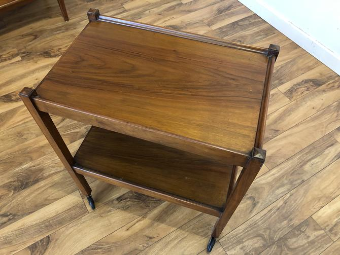 Mahogany Tea Trolley Rolling Cart