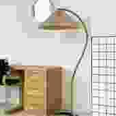 1970s Danish Bent Teak Caprani Floor Lamp