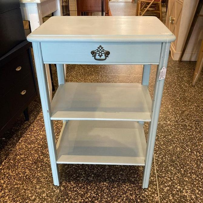 """Light blue nightstand with one drawer. 19"""" x 14.5"""" x 28.5"""""""