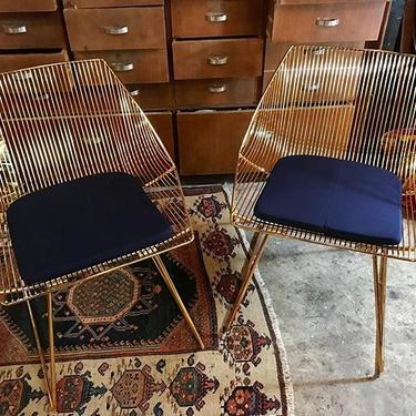 Fabulous Bunny Lounge Chairs By Bend Navy Sunbrella Seat Pads Included 600 For The Pair Creativecarmelina Interior Chair Design Creativecarmelinacom