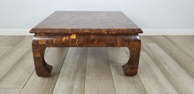 Erique Garcel Attributed Lacquered Coconut Shell Side Table . by MIAMIVINTAGEDECOR