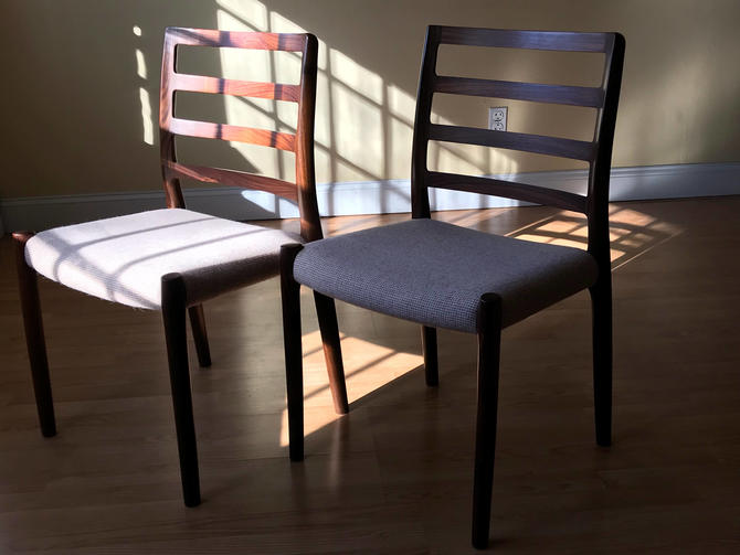 Model No 85 Rosewood Dining Chairs Niels Otto Moller for J.L. Moller Set of TWO by ASISisNOTgoodENOUGH